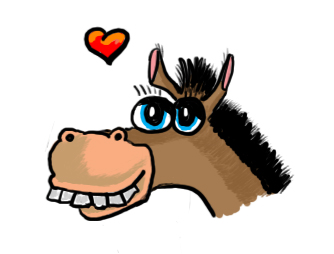 Billedresultat for sjov pony tegning